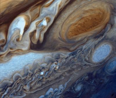 Voyager 1, la Grande Macchia Rossa e altri vortici