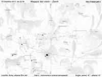 Mappa del cielo del mese di Dicembre 2013 - Visuale orizzonte Zenit, mappa in bianco e nero (per la stampa)